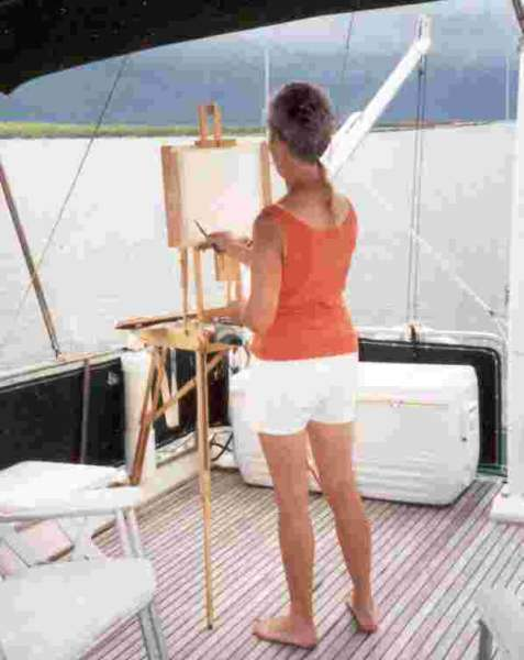 Donna painting